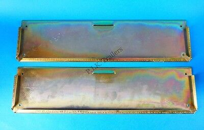 2 x Oblong Metal Number Plate Holder for Trailer, Horse Box, Tractor, Lorry
