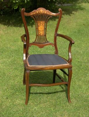 Small Mahogany Inlaid Desk Chair (Various Pick Up Points)