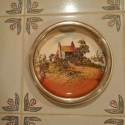 """Royal Doulton Trivet/Candy Dish """"Countryside"""" with Silver Rim"""