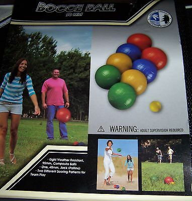 MD Sports Bocce Ball 90mm Set with Carry Case Backyard Game NEW!