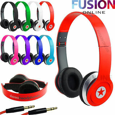 Foldable Overhead Stereo Headset Adults Kids Headphones For Samsung Iphone Ipad