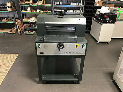 """Challenge Spartan 185SA Paper Cutter 18.5"""" Fully Serviced, Tested & Works Great!"""