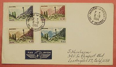 Andorra French #147-150 Part Set On 1964 Cover To Usa