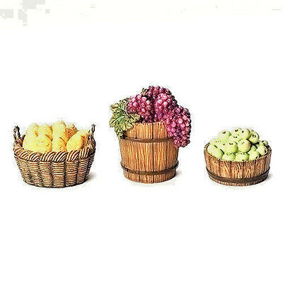 7.5 Inch Fontanini 3 Pc Fruit  and Vegetable Basket Set  50899