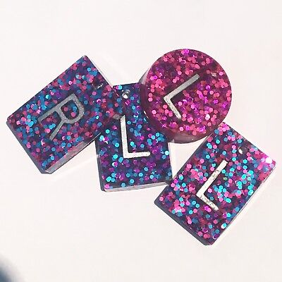 Radiography X Ray Markers, Pair Of Glitter X Ray Markers Add Initials Or Numbers