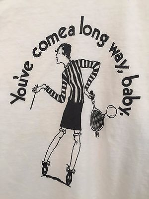 Vintage Feminist T-Shirt You've Come A Long Way Baby Virginia Slims Cigarette M