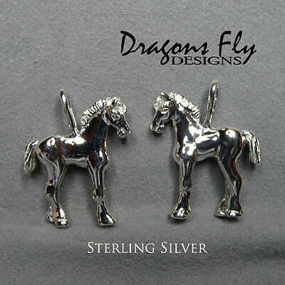 Foal Pendant, Equine Jewelry, Horse Jewelry, Sterling Silver, Friesian,