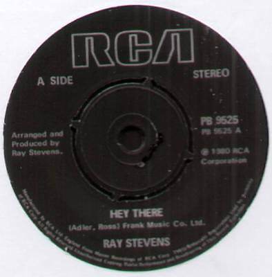 """RAY STEVENS~HEY THERE / NEVER GOIN' TO TAMPA WITH ME~1980 UK 7"""" SINGLE [Ref.2]"""