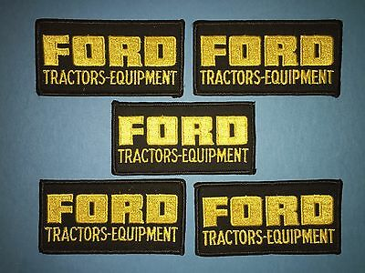 5 Lot 1970's Ford Tractors Equipment Jacket Farmer Hat Uniform Patches Crests C