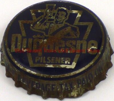 1930s Blue Duquesne Beer Pennsylvania Tax cork crown Tavern Trove