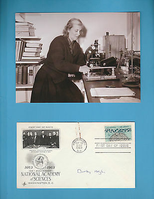 Dorothy Hodgkin (Nobel Prize Chemistry1964) Signed National Academy Sciences FDC