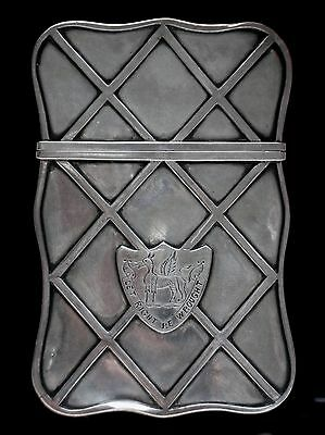Early Chinese Export Silver Card Case for English Market HEAVY