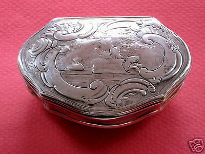18th English Silver Snuff Box London 1743 Robt Elliott