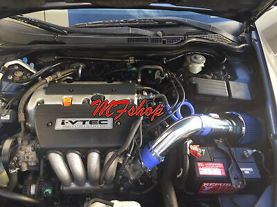 Blue For 2004-2007 Honda Accord 2.4L L4 Sulev DX LX EX SE Air Intake Kit