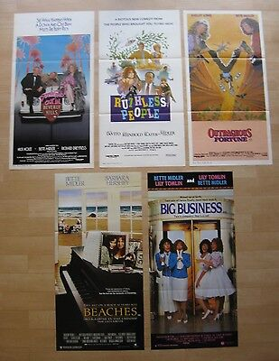 BETTE MIDLER Original Australian daybill movie posters x 5 Ruthless People