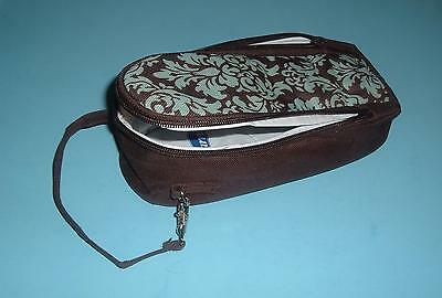 Baby Bottle Insulated Travel Cooler Bags Zippered & Straps Blue & Brown Enfamil
