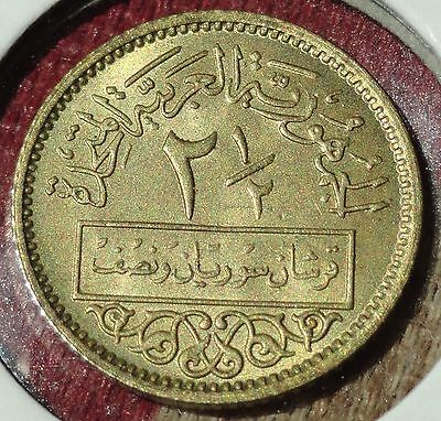 1960 Syria, 2 1/2 Piastres, Mint State Uncirculated