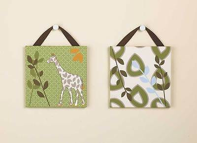 CoCaLo Baby Moremi Lil Mombo Nursery Decorative 2-Piece Canvas Wall Art Hanging