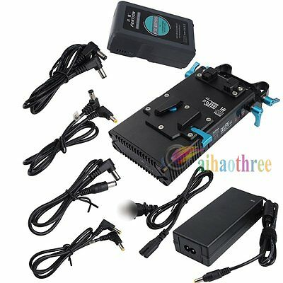 FOTGA DP500III V-Lock Battery Power Supply Plate + 6.6Ah 95Wh Battery For Camera
