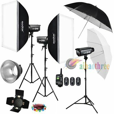 3Pcs Godox DP1000 1000W Photography Studio Strobe Flash Softbox Trigger Kit【AU】