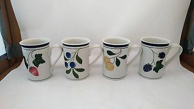 Dansk Designs Philippines Berries Set of 4 Different Mugs