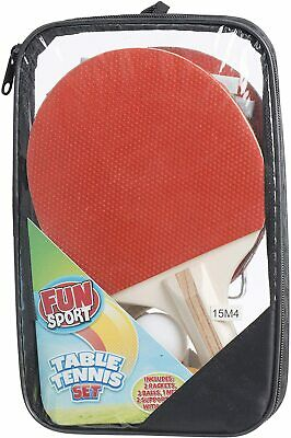 Table Tennis Ping Pong Set Includes 3 Balls 2 Paddle Bats Net Birthday Gift New
