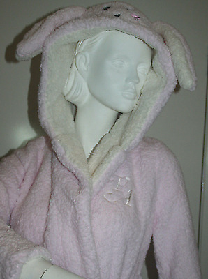 BNWT Peter Alexander Women's Pink Hooded Dressing Gown Size XS