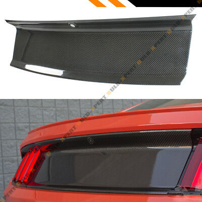 For 2015-2017 Ford Mustang Carbon Fiber Trunk Panel Duck Lid Trim Cover Overlay