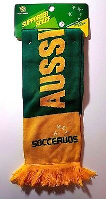 AUSTRALIA SUPPORTER SCARF SOCCEROOS Soccer Football Federation Official Scarf