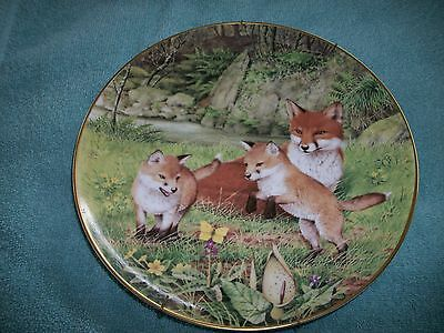 Peter Barrett - The Woodland Year Signature Plate - The Butterfly Chase in May