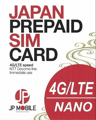 JP Mobile Japan Travel Prepaid SIM Unlimited for 31days!(Activate by 31AUG19)