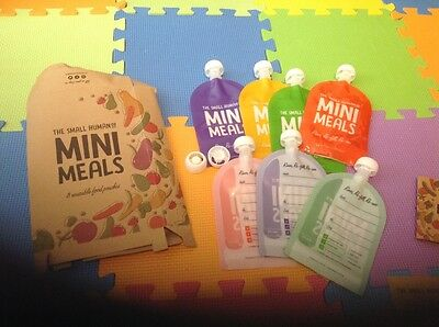 The Small Human Company Mini Meals Reusable Baby Food Pouches