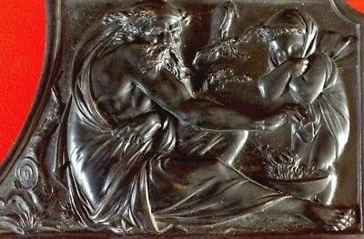 19th Century Antique Bronze plaque.Prometheus?