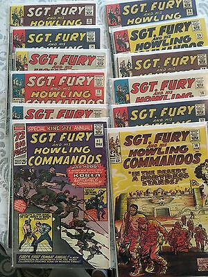 Sgt Fury/Nick Fury - Set of 20! FN to VF (NOT CGC graded)