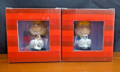 Peanuts set of Mini Bobble Head Ceramic Figurines - Sally & Schroeder *NEW*