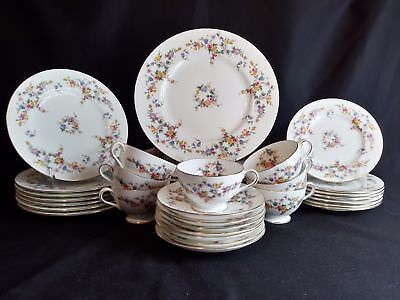 Minton Spring Flowers Set of 7 Place Settings 35 Pieces wedding gift