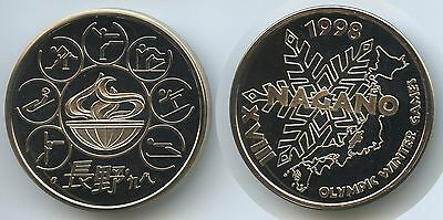 M681 - Medaille Olympische Spiele 1998 Nagano XVIII Olympic Winter Games Japan