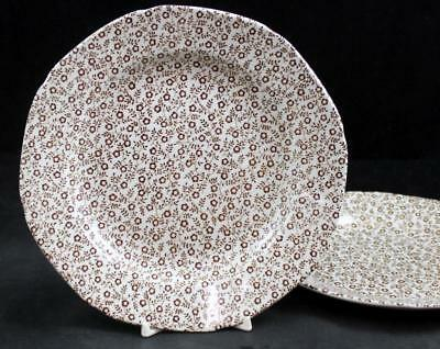 Burgess & Leigh FELICITY BROWN 2 Salad Plates Vintage Pattern GREAT CONDITION