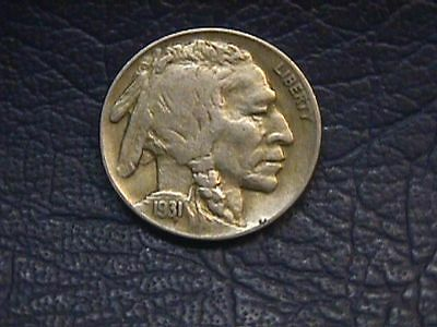 1931-S Buffalo Nickel In Very Fine Condition Free Shipping.