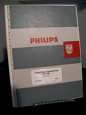 Vintage Philips PM 5168 Function Generator Operating Service Manual - Schematics