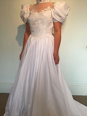 Vintage 80's Wedding Dress