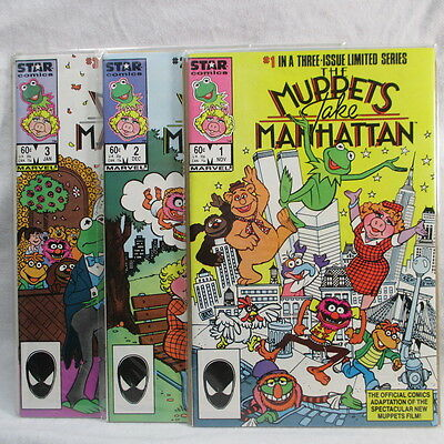Lot of 3 Vintage 1980's Marvel Comics The Muppets Take Manhattan Issues 1-3 VF • $1.99