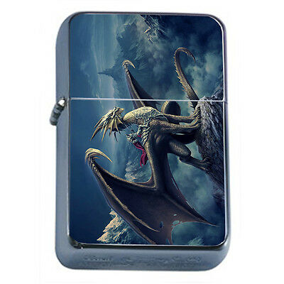 Dragons D35 Windproof Dual Flame Torch Lighter Refillable Fantasy