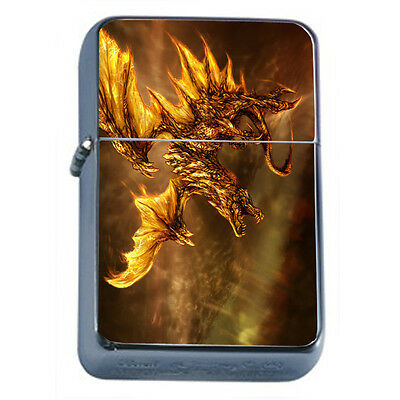 Dragons D37 Windproof Dual Flame Torch Lighter Refillable Fantasy