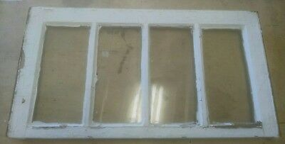 VINTAGE SASH ANTIQUE WOOD WINDOW PICTURE FRAME PINTEREST 28x15 ETSY OLD 4  PANE
