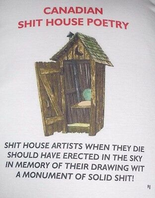New Canadian --It House Poetry Graphic Funny Adult T-Shirt Poetry L Xl Xxl Xxxl