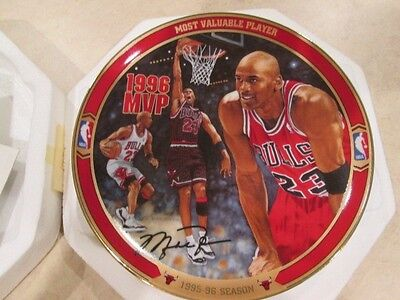 "Michael Jordan  ""Most Valuable Player"" collectible plate W / COA  original pack"