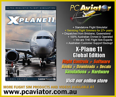 X-Plane 11 Global Edition 8-DVD Disk Set (Windows / Mac / Linux) - Aus Seller