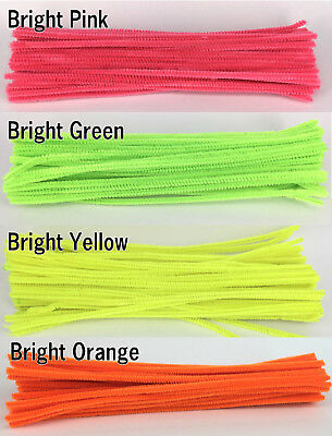 50pcs Bright Yellow Chenille Stem 30cm Craft Pipe Cleaners Craft Stem hand-woven
