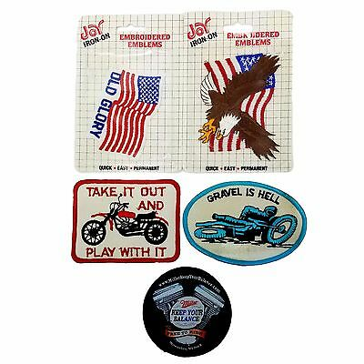 Harley Davidson Vest UNUSED Patch Lot of 5 Sewn Patches Badges Biker Motorcycle